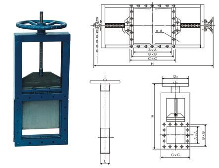 阀门闸阀   主要由框架,闸板,丝杆,螺图片